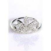 Bague Rosace Or blanc et diamants - Corpus Christi